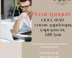 Регистрация ООО ФЛП смена директора, учредителя, КВЕДов
